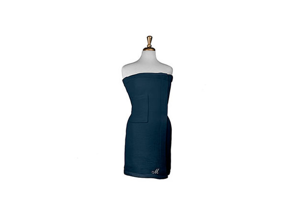 Parise Cotton Terry Bath Wrap (Navy)