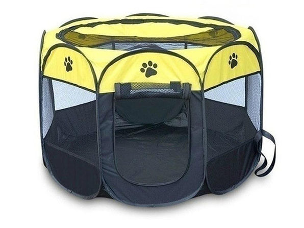 Portable Pet Tent (Yellow Large) - Product Image