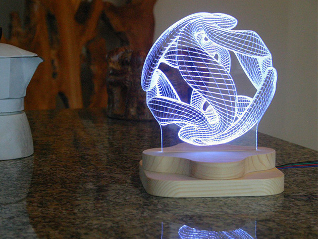 Blue Pine Studio 3d Illusion Lighting Sculpture