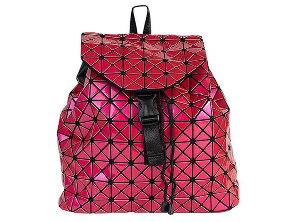 Geo Shaped Backpack - Fuchsia - Product Image