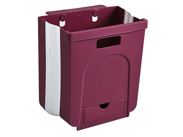 Kitchen Hanging Foldable Trash Can (Wine)