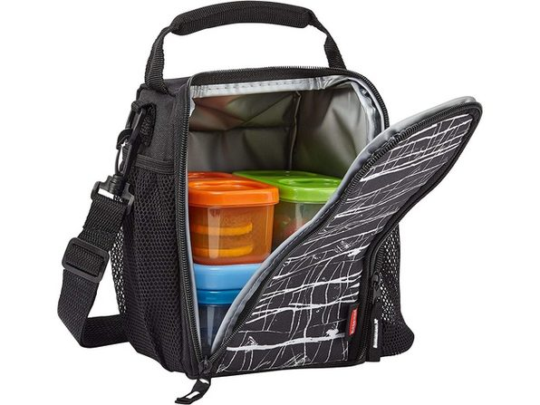 Rubbermaid 1813500 LunchBlox Small Lunch Bag, Black