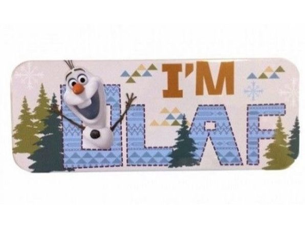 Tin Pencil Case - Frozen - Olaf - Light Blue