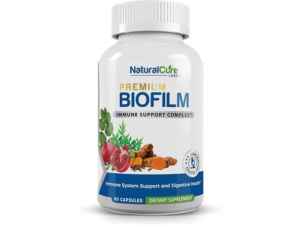 Natural Cure Labs Premium Biofilm - Immune System Support and Digestive Health, 60 Capsules Dietary Supplement