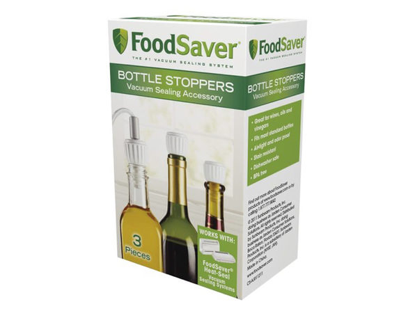 FoodSaver T03-0024-02 Bottle Stoppers, 3 Pack - Product Image