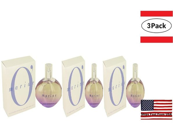 3 Pack O'Marine by Parfums O'marine Eau De Parfum Spray 3.3 oz for Women - Product Image