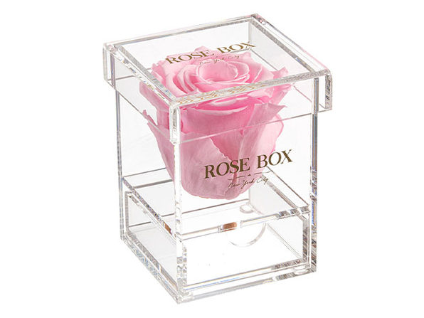 Rose Box™ Single Rose Jewelry Box (Light Pink)