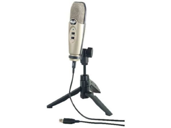 CAD Audio U37 USB Studio Large Condenser Recording USB Microphone - Champagne (Used, No Retail Box)