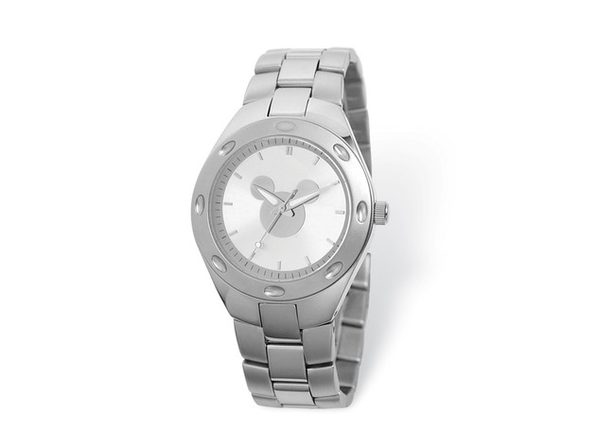Disney Adult Size Silver Dial Mickey Mouse Silhouette Watch - Product Image