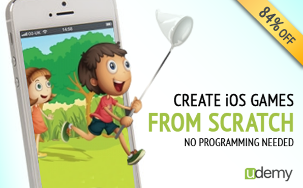 Learn How to Make iOS Games from Scratch With no Programming - Product Image