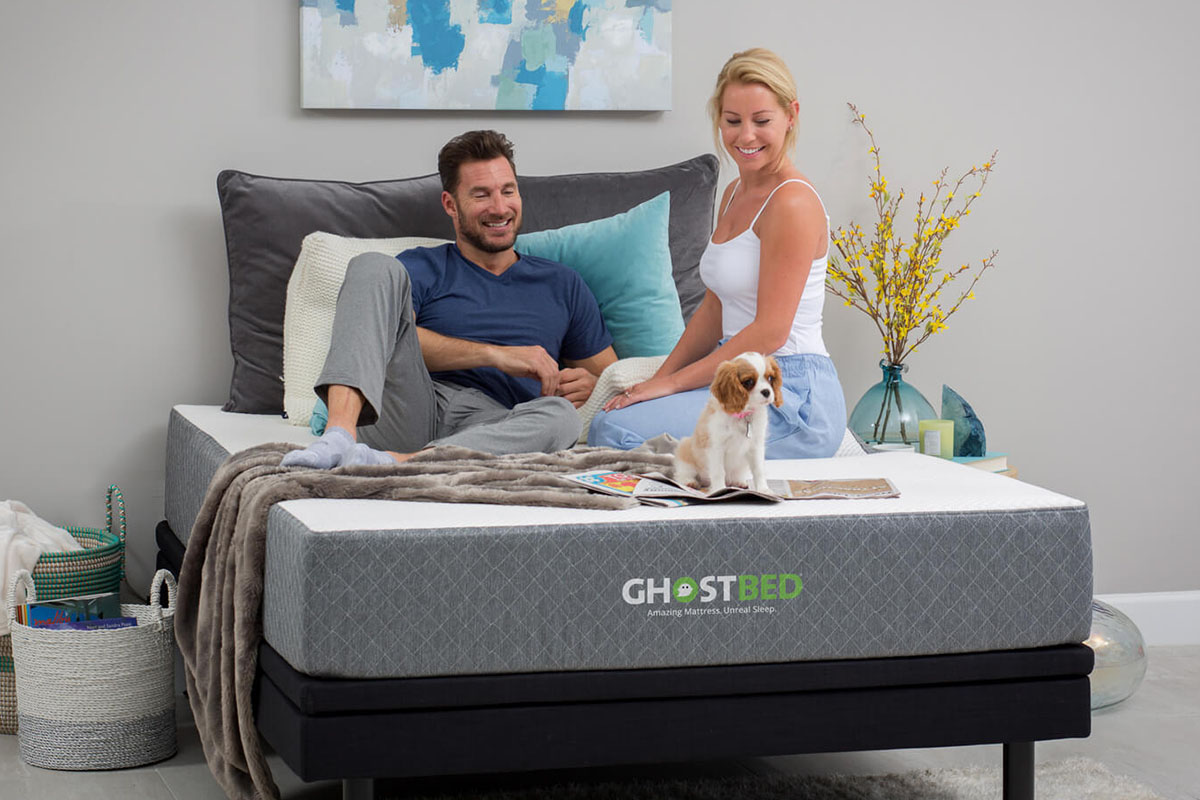 GhostBed 11″ Memory Foam Cooling Mattress, on sale for $766.99 (29% off)