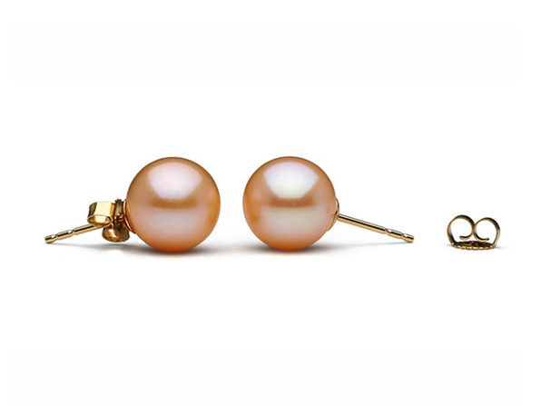 Freshwater Pearl Earrings (Pink)