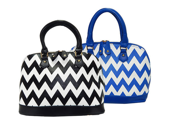 Chevron Top-Zip Bag