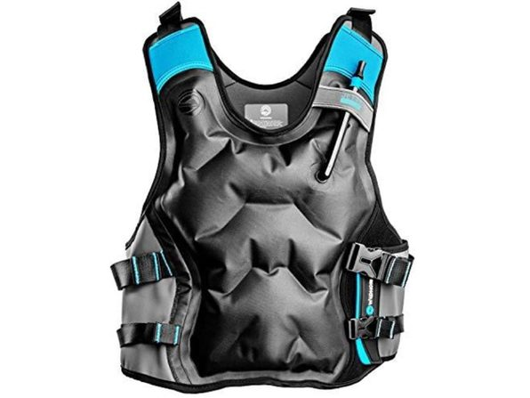 WildHorn Outfitters Jetty Inflatable Premium Snorkel Vest Jacket, Small Gray