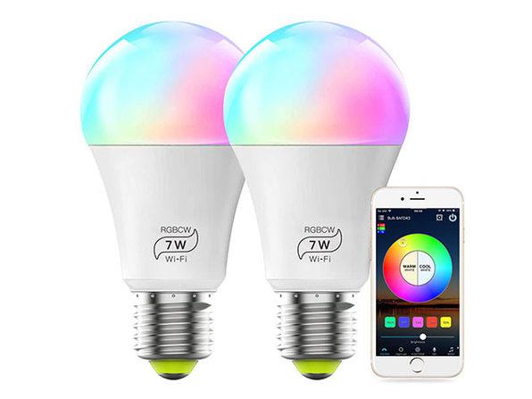 MagicLight Smart Colorful LED Light Bulbs: 2-Pack