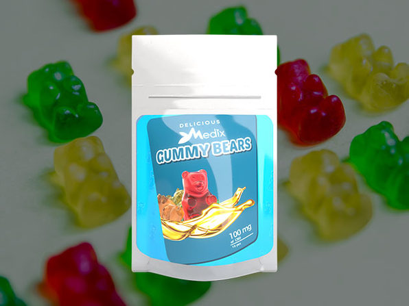 Medix CBD 10 piece Gummy Bears (100mg) - Product Image