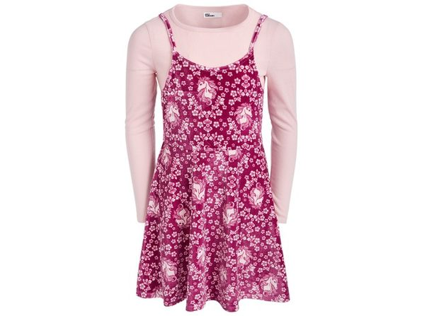 Epic Threads Big Girls Unicorn Floral Dress Pink Size Large