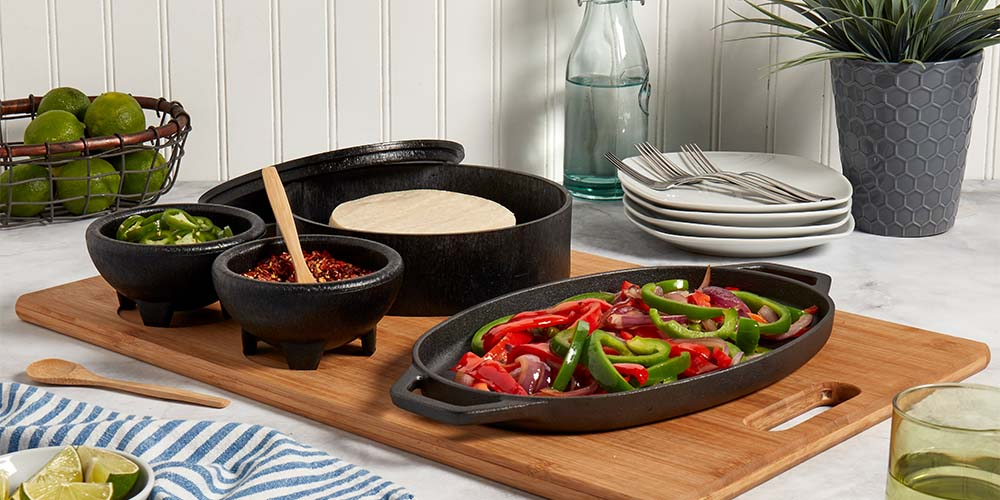 8-Piece Sizzle & Serve Fajita Set, on sale for $89.99 (40% off)