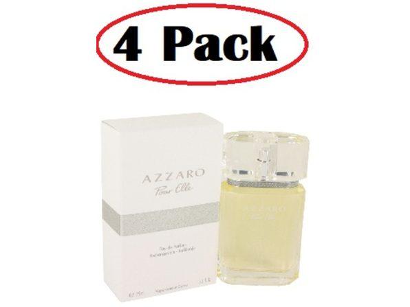 4 Pack of Azzaro Pour Elle by Azzaro Eau De Parfum Refillable Spray 2.5 oz - Product Image