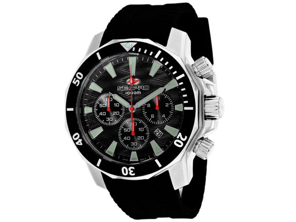 Seapro Men's Scuba Dragon Diver Limited Edition 1000 Meters Black Dial Watch - SP8340R - Product Image