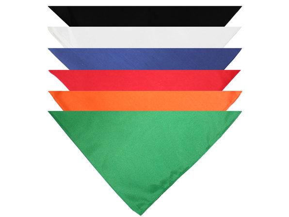 Mechaly Triangle Plain Cotton Bandanas - 7 Pack - Kerchiefs and Head Scarf - Black