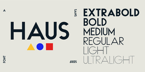 HAUS Sans Family (6 Weights) - Product Image