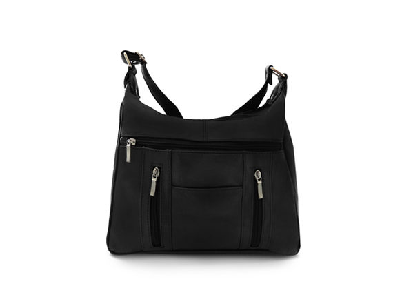 Leather Sleek Multi-Pocket Shoulder Handbag