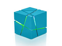 """The Cube"" Bluetooth Speaker (Blue) - Product Image"