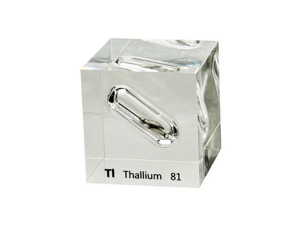 Thallium 50mm Lucite acrylic cube - Product Image