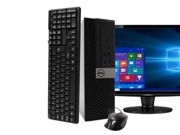 "Dell Optiplex 5040 Desktop PC, 3.2GHz Intel i5 Quad Core Gen 6, 8GB RAM, 2TB SATA HD, Windows 10 Professional 64 bit, 19"" Widescreen Screen (Renewed)"