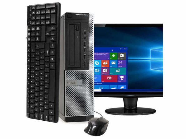 "Dell OptiPlex 7010 Desktop PC, 3.2GHz Intel i5 Quad Core Gen 3, 8GB RAM, 500GB SATA HD, Windows 10 Home 64 bit, 19"" Screen (Renewed)"