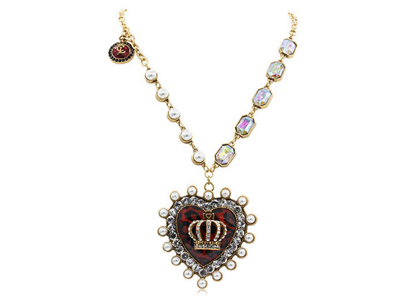 "Royal Heart Sweater Necklace By ""The Countess"" Luann de ..."