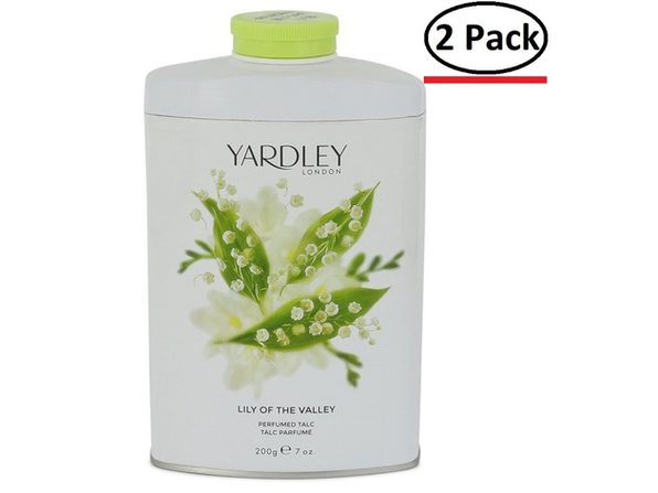 Lily of The Valley Yardley by Yardley London Pefumed Talc 7 oz for Women (Package of 2) - Product Image