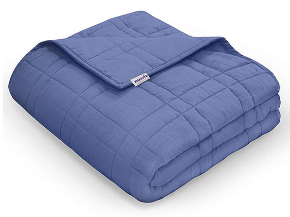 Nuzzie Weighted Blankets Navy Blue - 5lbs - Product Image