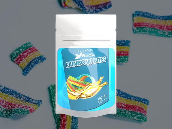 Medix CBD 10 piece Rainbow Bites (100mg) - Product Image