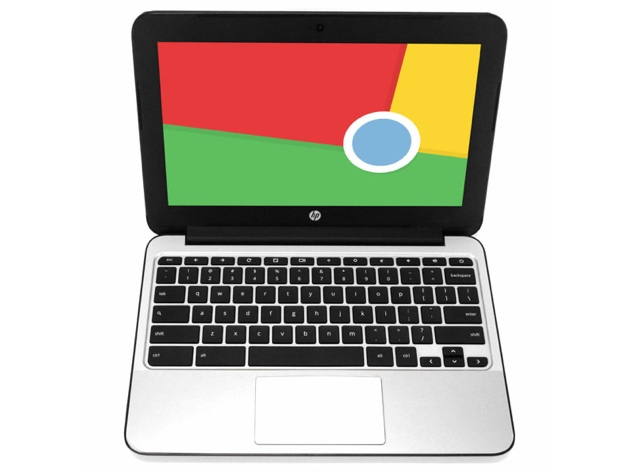 HP Chromebook V2W30UT 11″ Laptop, 2.16GHz Intel Celeron, 2GB RAM, 16GB SSD, Chrome (Grade B), on sale for $148.49 (50% off)