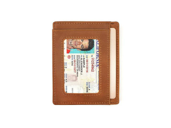 The Freeman: Slim Leather Wallet (Tan)