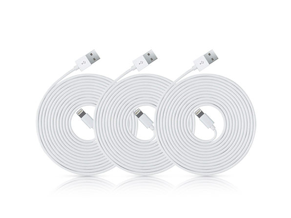 10-Ft MFi-Certified Lightning Cables: 3-Pack