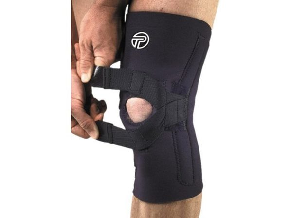Pro-Tec J-Lateral Knee Support, Medium: 14.5 Inches -16 Inches, Fits Right Knee, Black - Product Image
