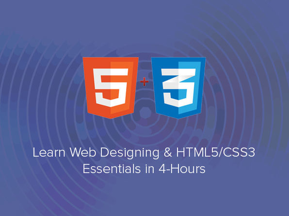 Learn Web Designing & HTML5/CSS3 Essentials in 4-Hours - Product Image