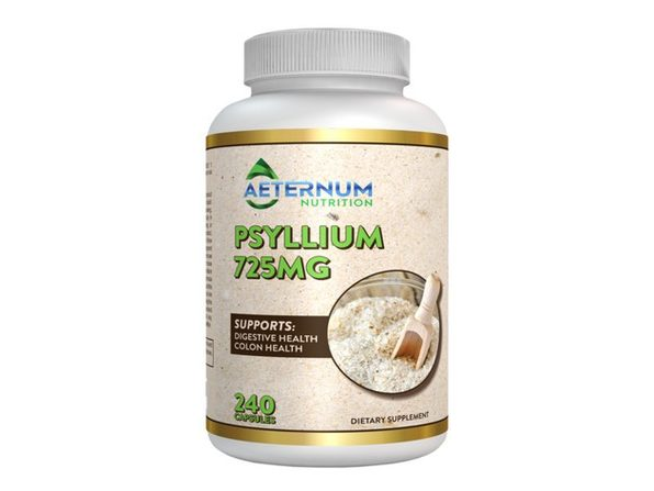 Aeternum Nutrition Psyllium 725 mg - Supports Digestive and Colon Health, 240 Capsules Dietary Supplement