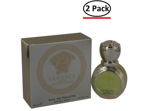 Versace Eros by Versace Eau De Toilette Spray 1 oz for Women (Package of 2) - Product Image