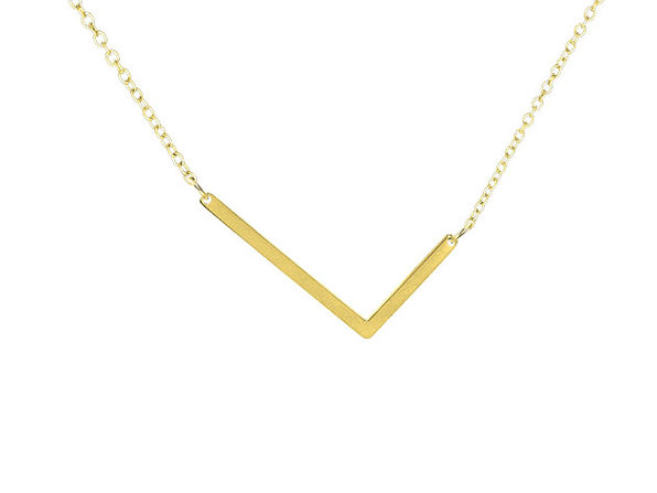 14K Gold Plated Letter Necklace - L - Product Image