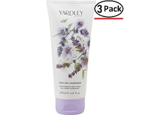 YARDLEY by Yardley ENGLISH LAVENDER BODY WASH 6.8 OZ (NEW PACKAGING) for WOMEN ---(Package Of 3)