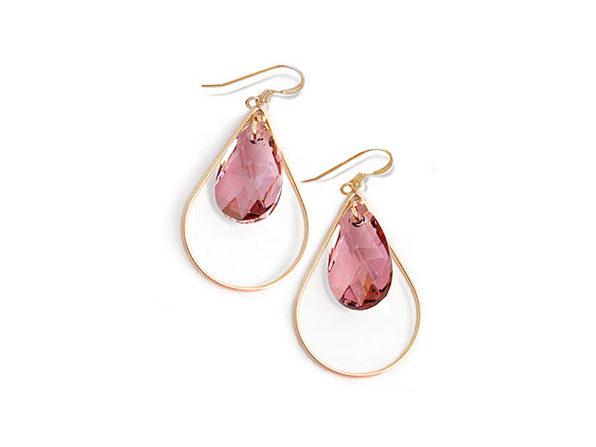 Sonia Hou SELFIE Earrings Ft. Swarovski Crystals (Rose)
