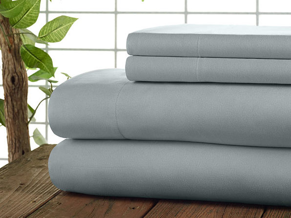 Kathy Ireland 4-Piece CoolMax Sheet Set (Light Grey)