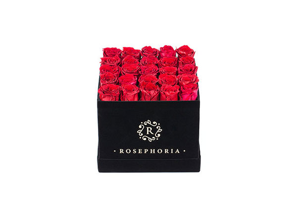 24 Rose Square Box - Red - Product Image