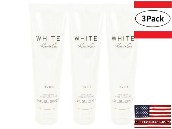 3 Pack Kenneth Cole White by Kenneth Cole Body Lotion 3.4 oz for Women - Product Image
