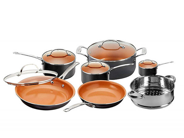 Gotham Steel Ti-Cerama 12-Piece Kitchen & Cookware Set