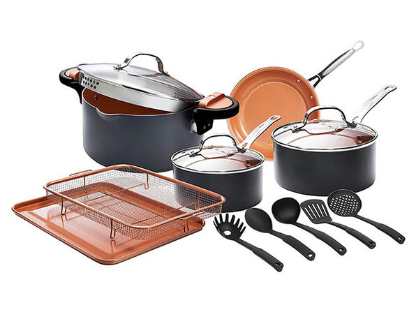 Gotham Steel™ Cookware Set (13-Piece) + Cookbook